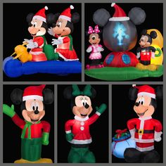 My Disney Life: Fun Find: Holiday Inflatable Fun- Mickey and Minnie Christmas inflatable decorations!