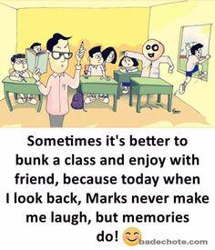 Make Memories. Tag your friends School Days Quotes, Funny School Stories, Funny School Jokes, Some Funny Jokes, School Humor, Childhood Friendship Quotes, Childhood Memories Quotes, Real Friendship Quotes, School Memories