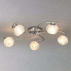 Buy John Lewis Hugo Semi-flush Light, Chrome, 5 Light Online at johnlewis.com £90