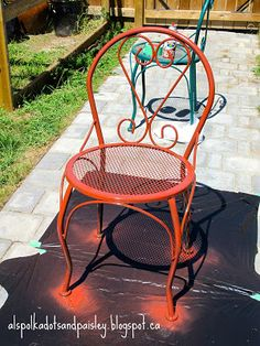 Painting (and Abandoning) My Patio Furniture