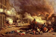 massacre of the swiss guard at Tuileries Palace