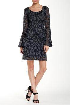 Lace Bell Sleeve Dress by Marina on @nordstrom_rack