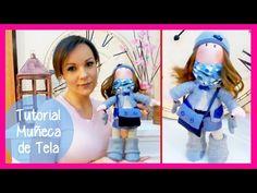 """Tutorial muñeca de tela """"estilo Gorjuss"""" y SORTEO, manualidades faciles para regalar o para vender - YouTube"""