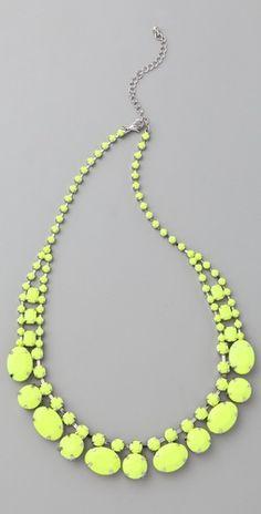 Short Neon Stone Necklace <3<3
