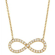 "Sterling Silver 16 + 1"" extension Gold-Plated CZ Infinity Figure 8 Necklace Beaux Bijoux. $29.50. Crafted of 925 Sterling Silver. Simple yet elegant design. Gift box included. Can be delivered next Business Day!. Save 41% Off!"