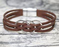 Womens Bracelet, Womens Leather Bracelet, Womens Jewelry, Multi Strand Bracelet, Kadın Bileklik, Armbänder für Frauen, Bracelet Femme