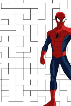 Spider-Man Maze Marvel Avengers, Marvel Fan, Babysitting Activities, Kids Learning Activities, Hulk, Spider Man Web Warriors, Thor, Iron Man, Visual Perception Activities