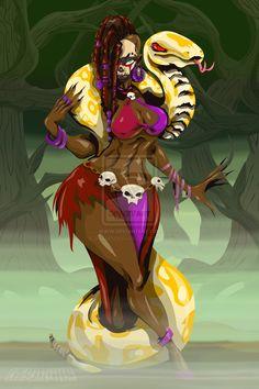 Voodoo Witch by chriscrazyhouse.deviantart.com on @deviantART
