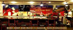 New mural for Soap & Essential Oils Company bar in Sebring FL