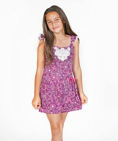 Love this Purple Lou Romper - Toddler & Girls on #zulily! #zulilyfinds