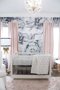 Talk about a statement! All the details come together in this chic glam nursery…. Talk about a statement! All the details come together in this chic glam nursery. Find so many nursery decor ideas to try for newest addition. Baby Bedroom, Baby Room Decor, Nursery Room, Girls Bedroom, Baby Girl Rooms, Baby Girl Nursery Bedding, Babies Nursery, Garden Nursery, Master Bedroom