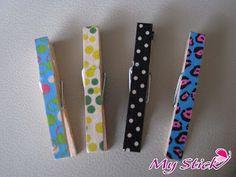 Mis pinzas de ropa decoradas con washi tape