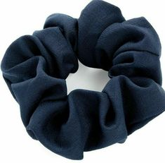 Neon Yellow Novelty Fancy Dress 4cm Polyester Hair Band Scrunchie Ponytail