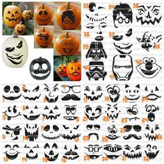 No care vinyl pumpkin faces