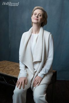 James White's Cynthia Nixon photographed at The Hollywood Reporter photobooth at the 2015 #Sundance Film Festival in Park City, Utah on Jan. 23, 2015.