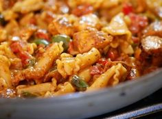 Like chicken fajitas but looking for a fast weeknight meal? Try Foodtown's Chicken Fajita Pasta recipe for a great-tasting meal your entire family will love. Fajita Pasta Recipe, Chicken Pasta Recipes, Taco Recipe, Chicken Fajita Recipe Pioneer Woman, Recipe Chicken, Mexican Food Recipes, Dinner Recipes, Chicken Fajitas, Cooking Recipes