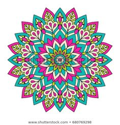 Find Flower Mandala Vintage Decorative Elements Oriental stock images in HD and millions of other royalty-free stock photos, illustrations and vectors in the Shutterstock collection. Mandala Art, Mandala Design, Image Mandala, Indian Mandala, Mandala Drawing, Mandala Painting, Flower Mandala, Illustration Blume, Indian Patterns
