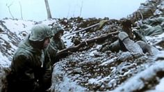 German main battle line on the Russian front. Notice the dead Soviet soldiers. Probably the result of some failed Soviet attack.