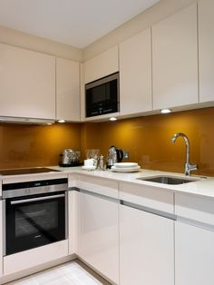 Kitchen at @Cheval_Calico House Serviced #Apartments, a #hotel alternative in #London near St. Paul's