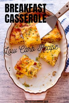 This Low Carb Breakfast Casserole is loaded with eggs bacon breakfast sausage cheese and fresh chives. It's perfect for a lazy weekend breakfast. Low Carb Breakfast Casserole, Bacon Breakfast, Best Breakfast, Brunch Recipes, Breakfast Recipes, Breakfast Ideas, Fresh Chives, Casserole Recipes, Chicken Casserole