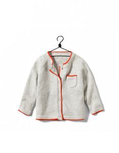 cardigan with contrasting piping - Collection - Mini (0-9 months) - Kids - ZARA United Kingdom
