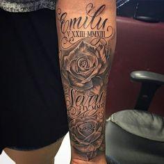 Vorlage - My list of best tattoo models Rip Tattoos For Dad, Dad Tattoos, Tattoos For Daughters, Body Art Tattoos, Tattoos For Women, Sexy Tattoos, Inner Forearm Tattoo, Forearm Sleeve Tattoos, Tattoo Sleeve Designs