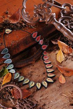 Cara Jane Hayman Changing Seasons Polymer Clay Beaded Necklace Tutorial Beads & Beyond Magazine October 2014  www.inspiredtomake.com  www.carajane.co.uk