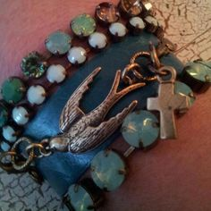 Love this jewelry! (Lenny and Eva Aqua Leather Bracelet with Bird Pendant) This pin is for you, Carolyn! We need more pieces to play with!