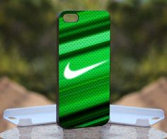 Nike Logo Green, Print on Hard Cover iPhone 5 Black Case | MonggoDiTumbas - Accessories on ArtFire