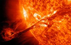 This coronal mass ejection (CME) erupted into space on August 31, 2012, traveling over 900 miles per second. It connected with Earth's magnetic field with a glancing blow.