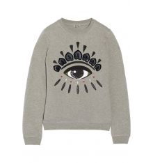 KENZO Embellished cotton-fleece sweatshirt, KENZO's soft cotton-fleece sweatshirt is embroidered with the brand's signature evil eye motif. Wear it with a pleated skirt and sport sandals, layering on a biker jacket to continue a downtown look. Kenzo, Eye Trends, Style Japonais, Cotton Fleece, Dressed To Kill, Unique Outfits, Fall Outfits, Sweater Weather, Look Fashion