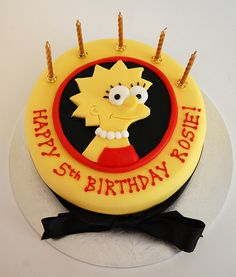Lisa Simpson Cake, just change rosie to isa... Jeje