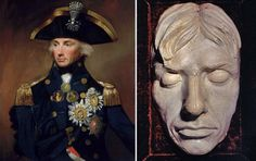 Horatio Nelson - portrait and deathmask