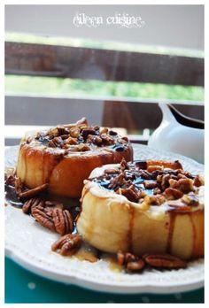 Cinnabon caramel and chocolate rolls