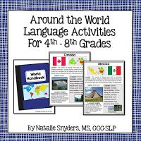 Speech-Language Therapy - Middle School Materials Round Up (Part 1) - Natalie Snyders, SLP