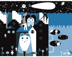 """preview. illustration for Timbuktu Magazine - """" The night issue"""" by pilipo, via Flickr"""