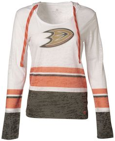 LevelWear Women's Long-Sleeve Anaheim Ducks Hooded T-Shirt
