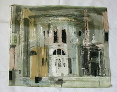 JOHN PIPER Chiesa della Salute Venice 1959 - wonderful fabric, designed for Sandersons...
