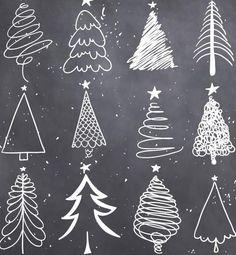 Christmas Doodles, Christmas Art, Christmas Holidays, Christmas Decorations, Xmas, Christmas Ornaments, Black Christmas, Etsy Christmas, Tree Decorations