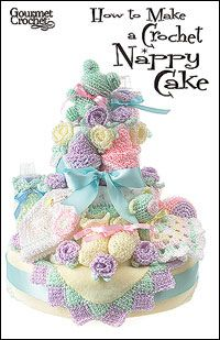 How to Make a Crochet Nappy Cake by Carolyn Christmas, via Flickr