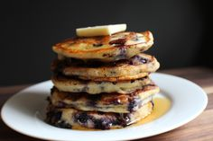 These blueberry buttermilk pancakes are light & fluffy and will melt in your mouth. Buttermilk & fresh blueberries makes these pancakes rich and delicious.