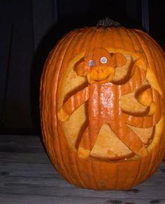 Sock monkey pumpkin