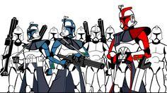 Color Arc Trooper Line Art by gman963