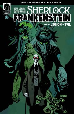 Sherlock Frankenstein and the Legion of Evil #1 variant cover by Mike Mignola