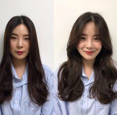 These are the hottest Korean bangs in 2019 TOP BEAUTY LIFESTYLES : See the before and after with Korean long side bangs? They are absolutely life saver to round faces koreanhairstyle koreanwomen koreanfashion hairstyleforroundfaces hairstylewithbangs cut Korean Haircut Long, Korean Hairstyle Long, Korean Long Hair, Asian Haircut, Hair Korean Style, Korean Medium Hair, Korean Hair Color, Korean Hairstyle Medium Round Faces, Korean Curls