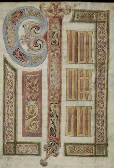 Irisches Evangeliar von St. Gallen (Quatuor evangelia) Irland · um 750 Cod. Sang. 51  Folio 129