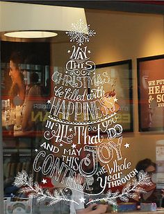 CHRISTMAS TREE WINDOW/ WALL DISPLAY STICKER DECORATION, BUSINESS, HOME DECOR in Business, Office & Industrial, Retail & Shop Fitting, Retail Display | eBay!