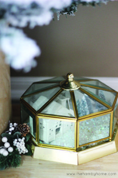 Turn those old light fixtures into snow globes