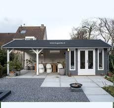 Hasil gambar untuk moderne blokhut met veranda
