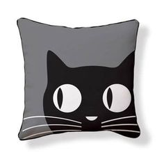 Big Eyes Cat Pillow, $35, now on Fab. Reminds of the wall clocks where the eyes go back and forth #cat products